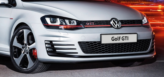 Дизайн передней части Volkswagen Golf