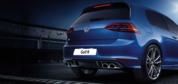 Облик задней части Volkswagen Golf